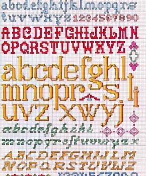 alfabeti maiuscoli e minuscoli stampatelli