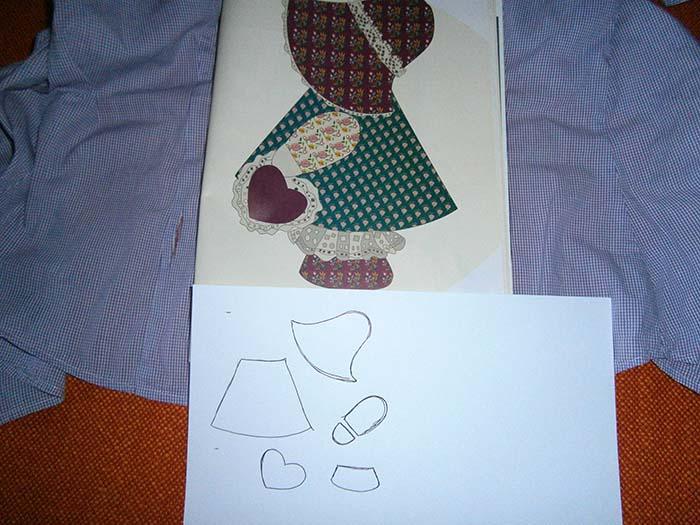 Disegnare cartamodello bambola