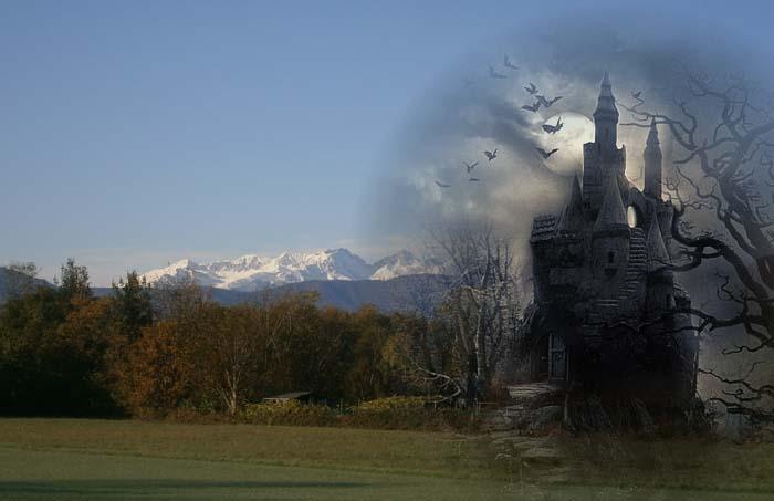 Le Alpi offuscate da un oscuro presagio