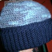 Cappello blu e mélange
