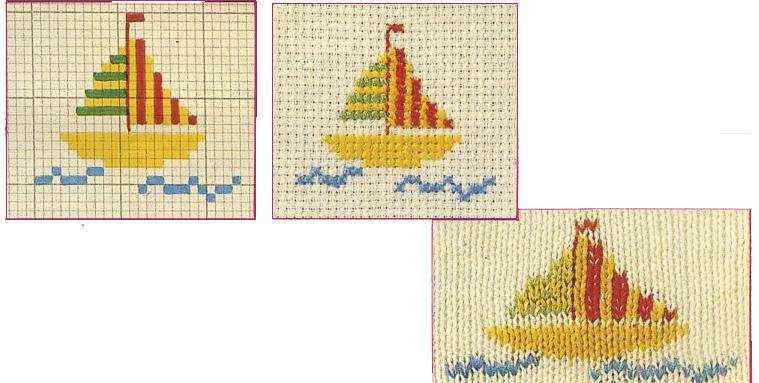 Esempi di punto maglia e punto croce