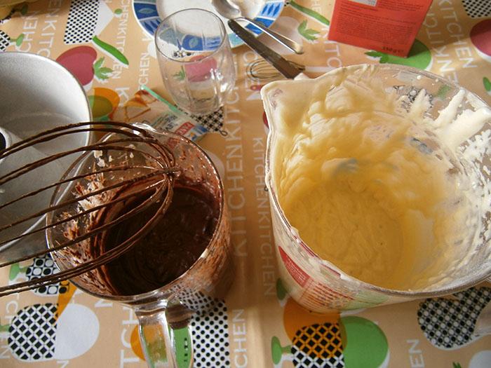 impasto bianco e al cioccolato