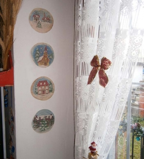 Vano finestra natalizio (sx)