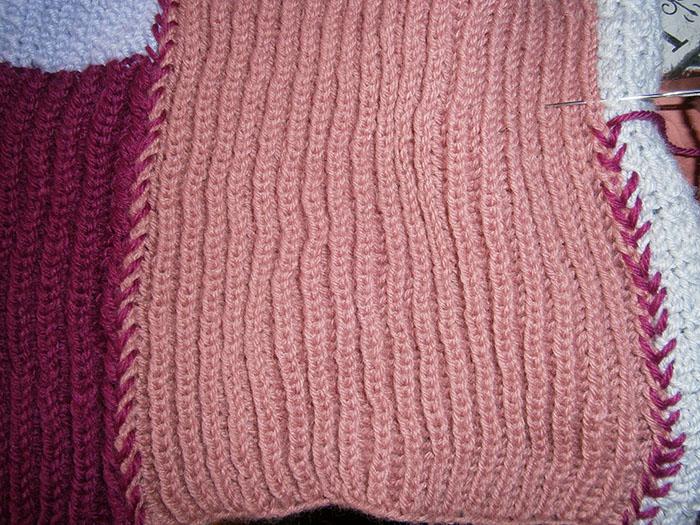 finitura a punto maglia