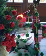 Ghirlande di fiori rossi per Natale