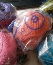 Gomitoli di cotone in filo