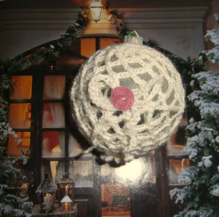 Palla di neve a uncinetto