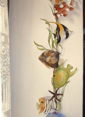 pesci e alghe marine