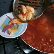 Togliere l'aglio cotto