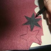 Disegnare la stella sul feltro