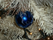Pallina blu glitterata