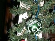 Pallina verde glitterata