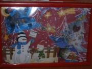 Quadretto collage soggetti natalizi