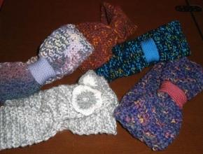 Fasce di lana ai ferri