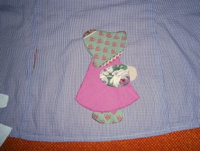Le parti della bambolina in posizione