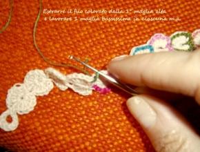 filo colorato nella 1° maglia alta