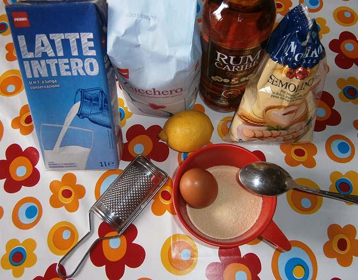 Ingredienti semolino dolce