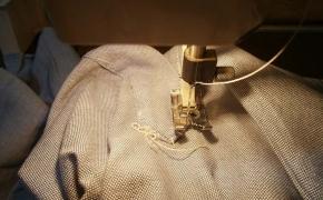 2° step: cucire la pattina sopra