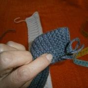 cucire la striscia grigia
