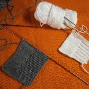 strisce di lana ai ferri