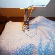 cucire a macchina la punta del fessino