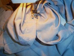 cucire a macchina il fessino
