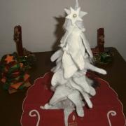 Albero di Natale con stella e glitter