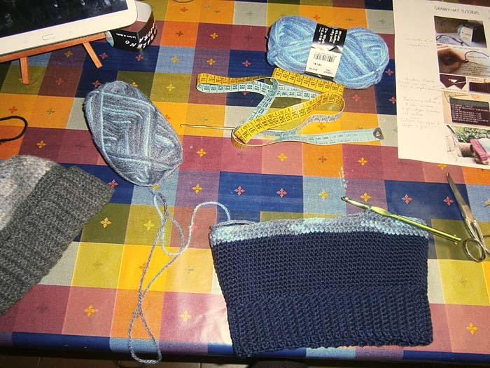 Bordo del primo cappello blu