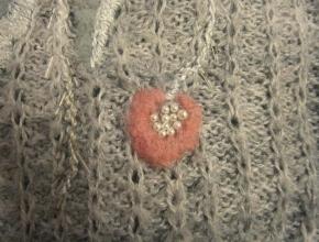 Secondo fiore di lana rosa