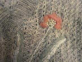 Fiore di lana rosa