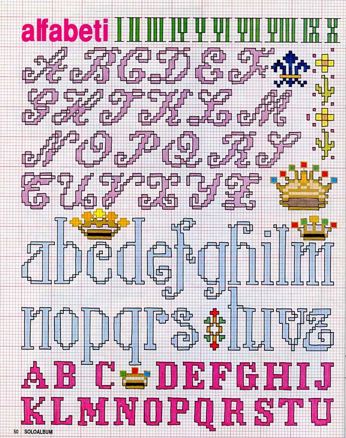Alfabeti a punto croce meryweb for Alfabeto a punto croce per neonati