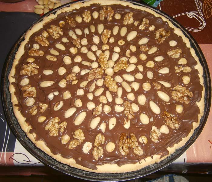 Crostata Nutella e frutta secca, senza glutine