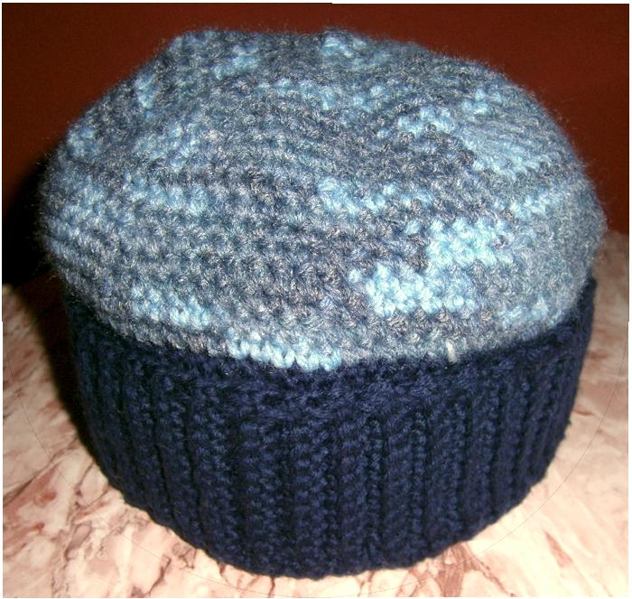 Cappello blu mélange