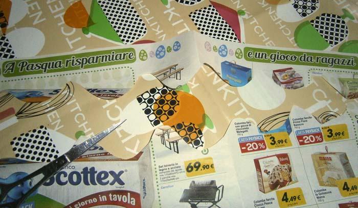Tagliare la striscia di carta