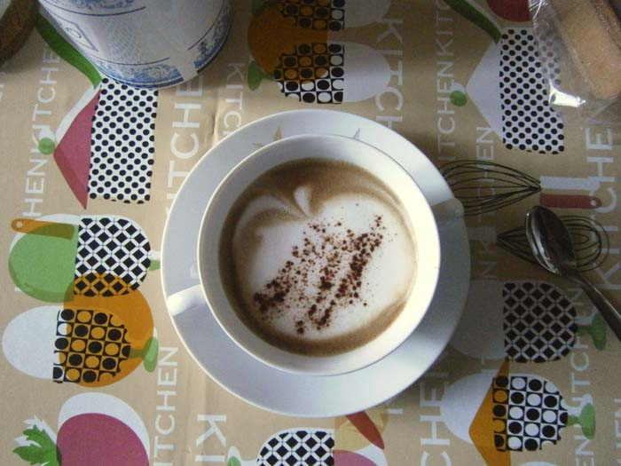 Cappuccino con mela