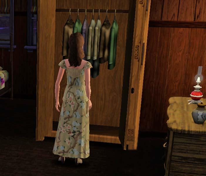 Amalia indossò un abito a fiori