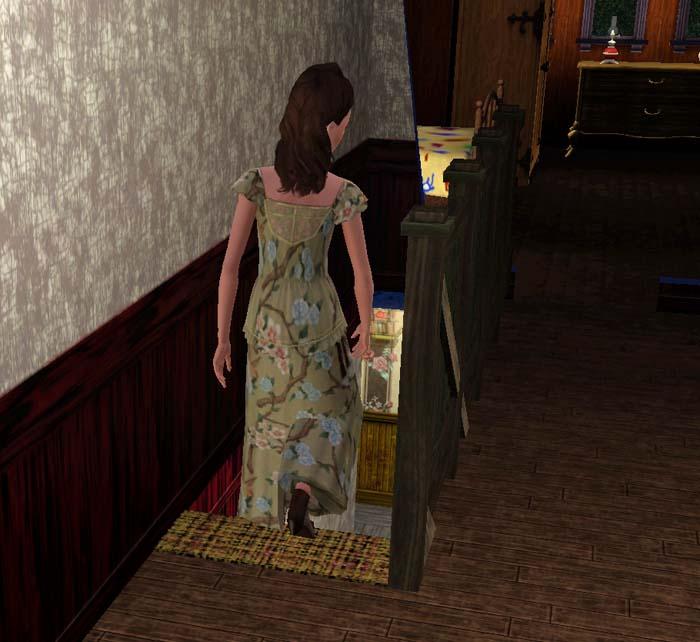 Amalia si affrettò a scendere le scale