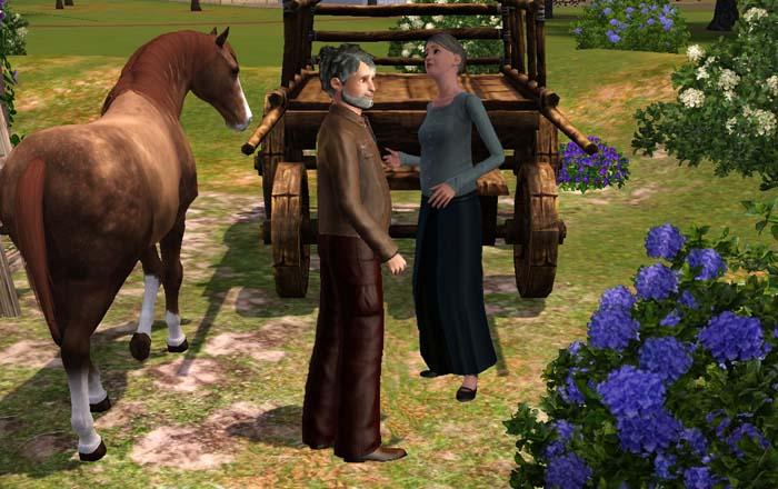 Bartolomeo e Giuditta davanti al calesse