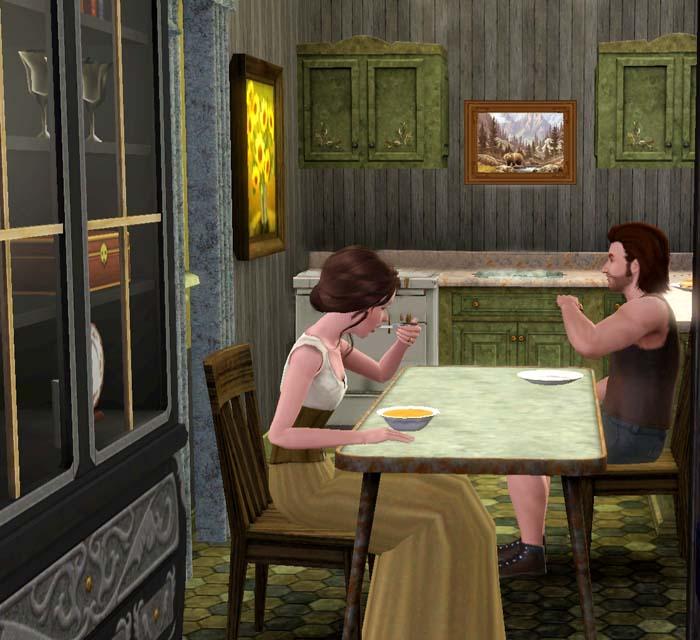 Amalia e Andrea mangiarono la zuppa