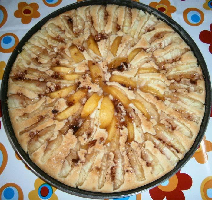 Torta ananas e pesche