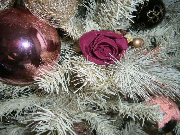 decorazioni rosa per l'albero